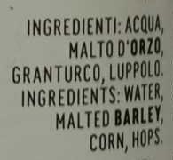 Birra Moretti Ricetta Originale - Ingredients