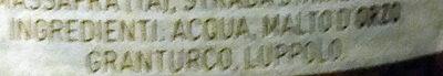 Birra Moretti - Ingredients