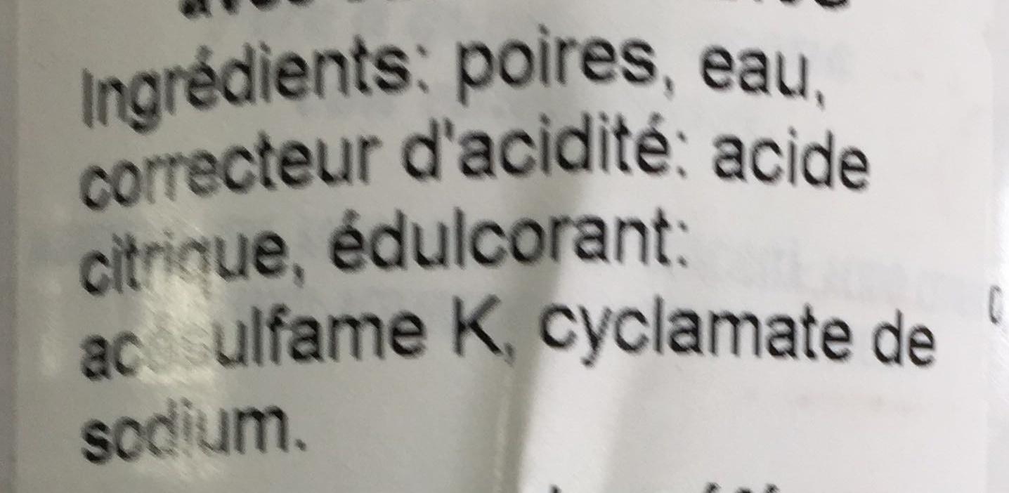 Pere a quarti - Ingrédients - fr