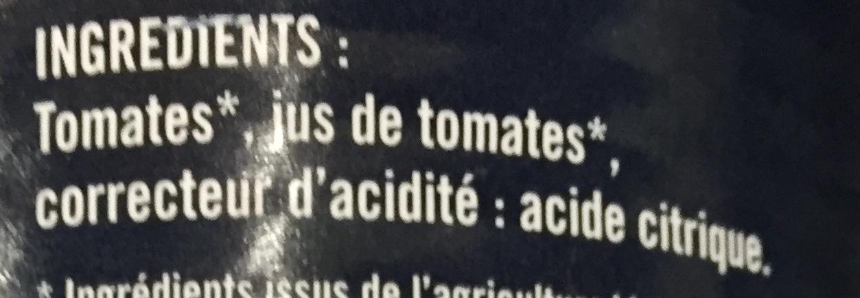 Les Tomates Pelées bio - Ingredients - fr