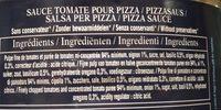 Pizza sauce cuisinee - Ingrédients