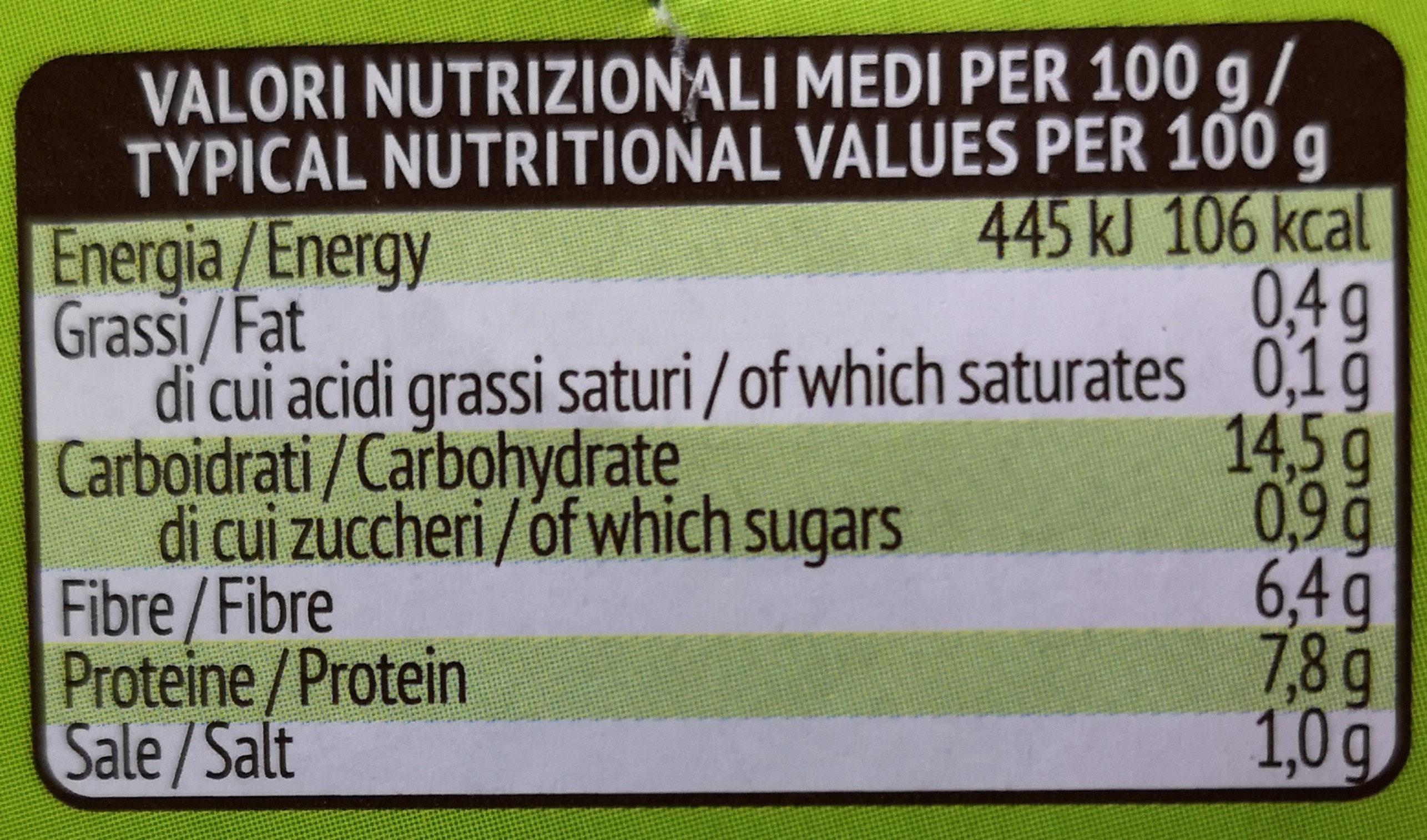 Borlotti Italiani - Informations nutritionnelles - it