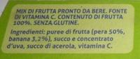 IL NUOVO FRULLATO 100% FRUTTA GUSTO PERA VALFRUTTA - Ingrédients - it