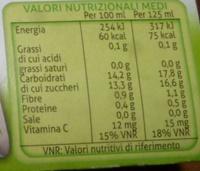 IL NUOVO FRULLATO 100% FRUTTA GUSTO PERA VALFRUTTA - Informations nutritionnelles - it
