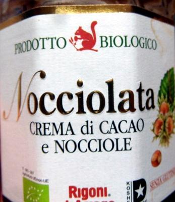 Rigoni Nocciolata crema di cacao e nocciole Prodotto biologico - Produit
