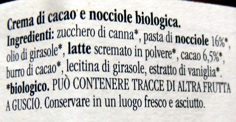 Rigoni Nocciolata crema di cacao e nocciole Prodotto biologico - Ingrédients