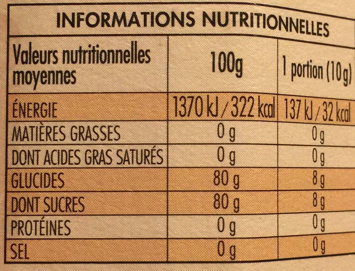 Mielbio Miel Italien de Chardon Biologique - Nutrition facts