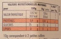 Miel italien de châtaignier Mielbio - Informations nutritionnelles - fr