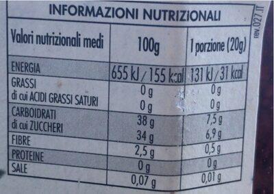 Fiordifrutta albicocche - Informação nutricional - fr