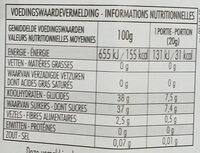 Fior di frutta griottes - Valori nutrizionali - fr