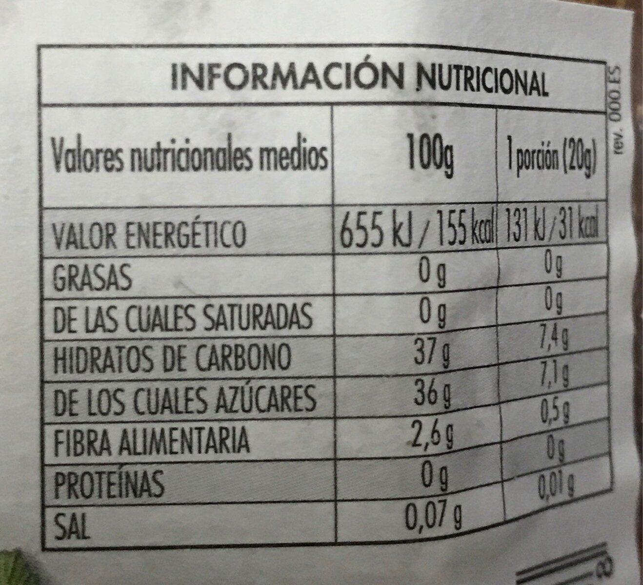 Mermelada fresa y fresas salvajes - Información nutricional