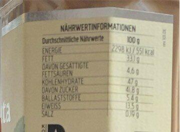 Bio-Haselnuss-Nougat Creme - Nährwertangaben - de