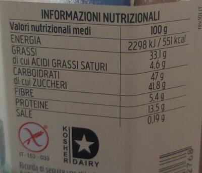 Crema alle nocciole - Informations nutritionnelles - fr