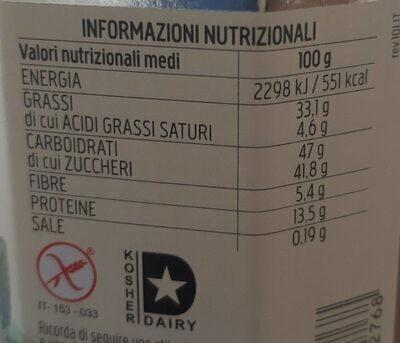 Nocciolata bianca - Valori nutrizionali - it