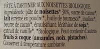 Nocciolata bianca - Ingrediënten - fr