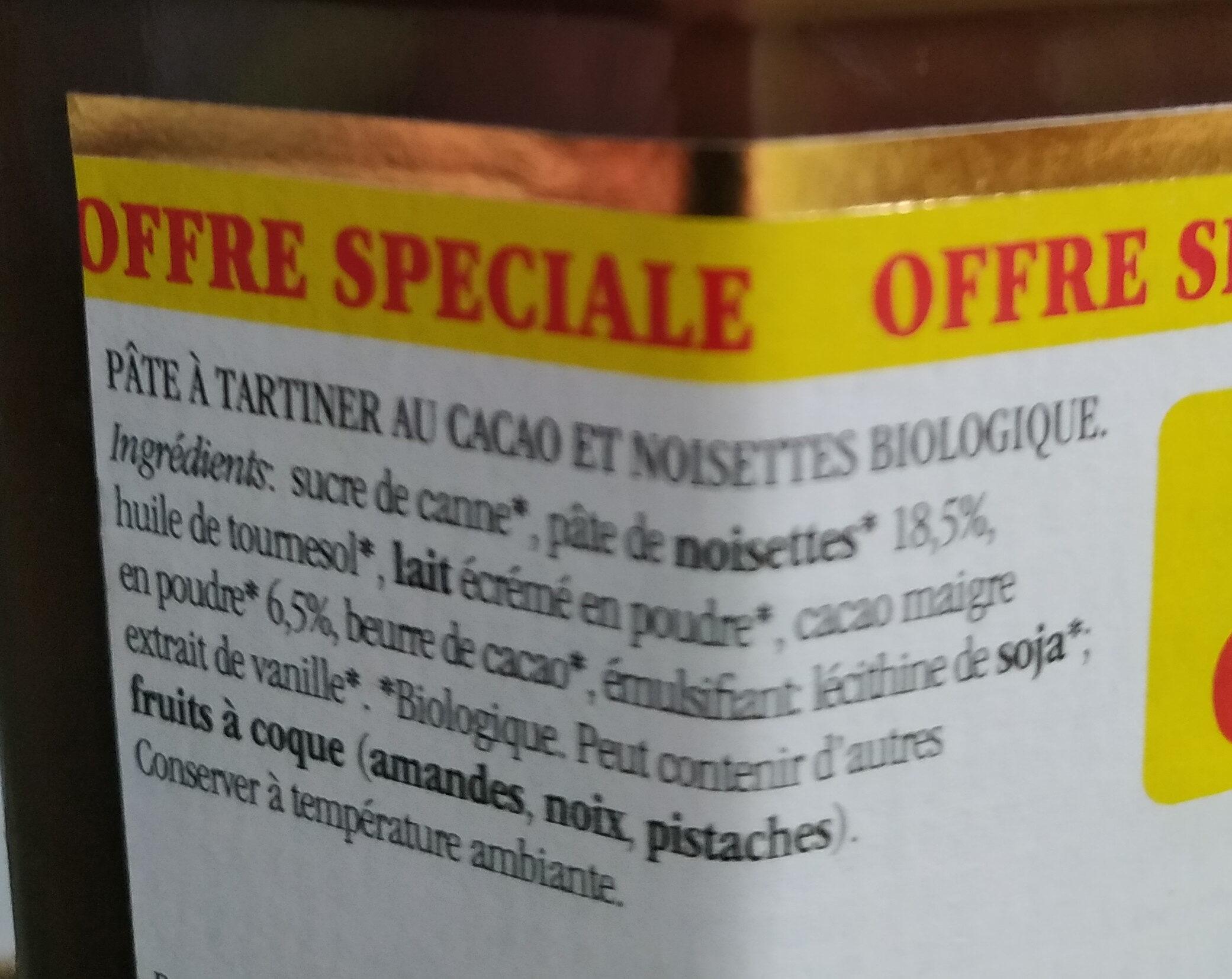 Nocciolata - Ingredients - fr