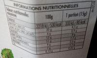 Nocciolata - Nutrition facts - fr