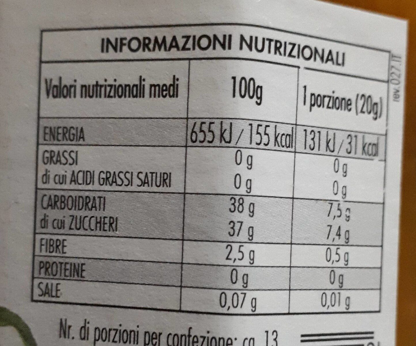 Fiordifrutta pesche - Nutrition facts - it