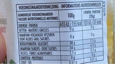 Fiordifrutta abricots - Voedingswaarden - fr