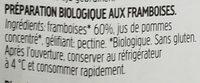 Fiordifrutta framboise - Ingredients - fr