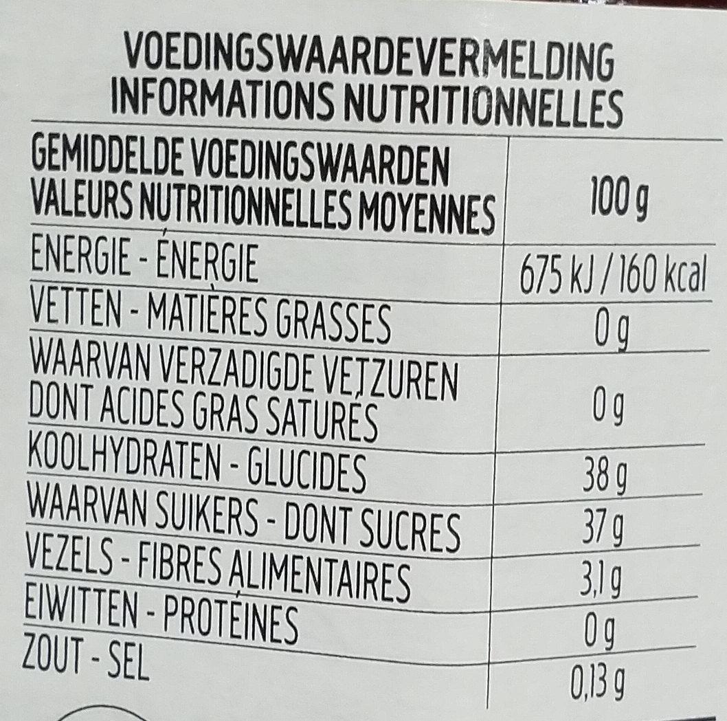 Fiordifrutta framboise - Nutrition facts - fr