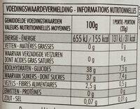 Confiture de prune - Voedingswaarden - fr