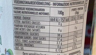 Fiordi di frutta - Nutrition facts - de