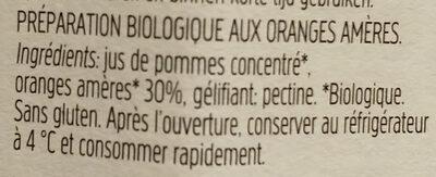 FiordiFrutta Orange amère - Ingredients - fr