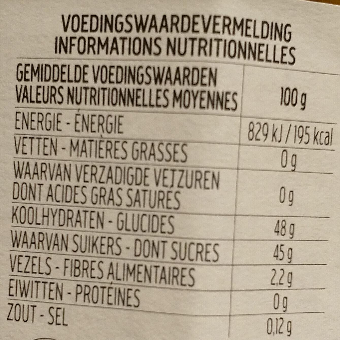 FiordiFrutta Orange amère - Nutrition facts - fr