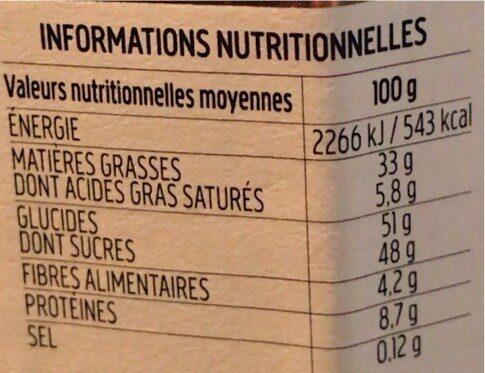 Nocciolata crunchy - Informations nutritionnelles - fr