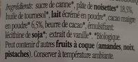 Nocciolata Pâte à tartiner au cacao et noisettes - Ingredients