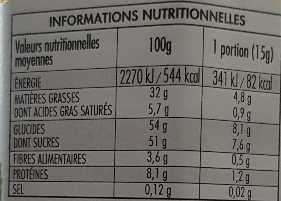 Nocciolata Pâte à tartiner au cacao et noisettes - Nutrition facts