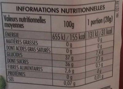 Fiordifrutta - Fraises des Bois - Informazioni nutrizionali - fr