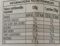 FiordiFrutta Myrtilles - Valori nutrizionali - fr
