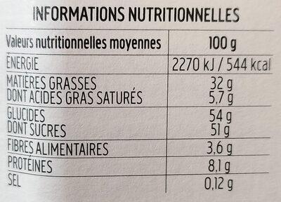 Nocciolata - Nutrition facts
