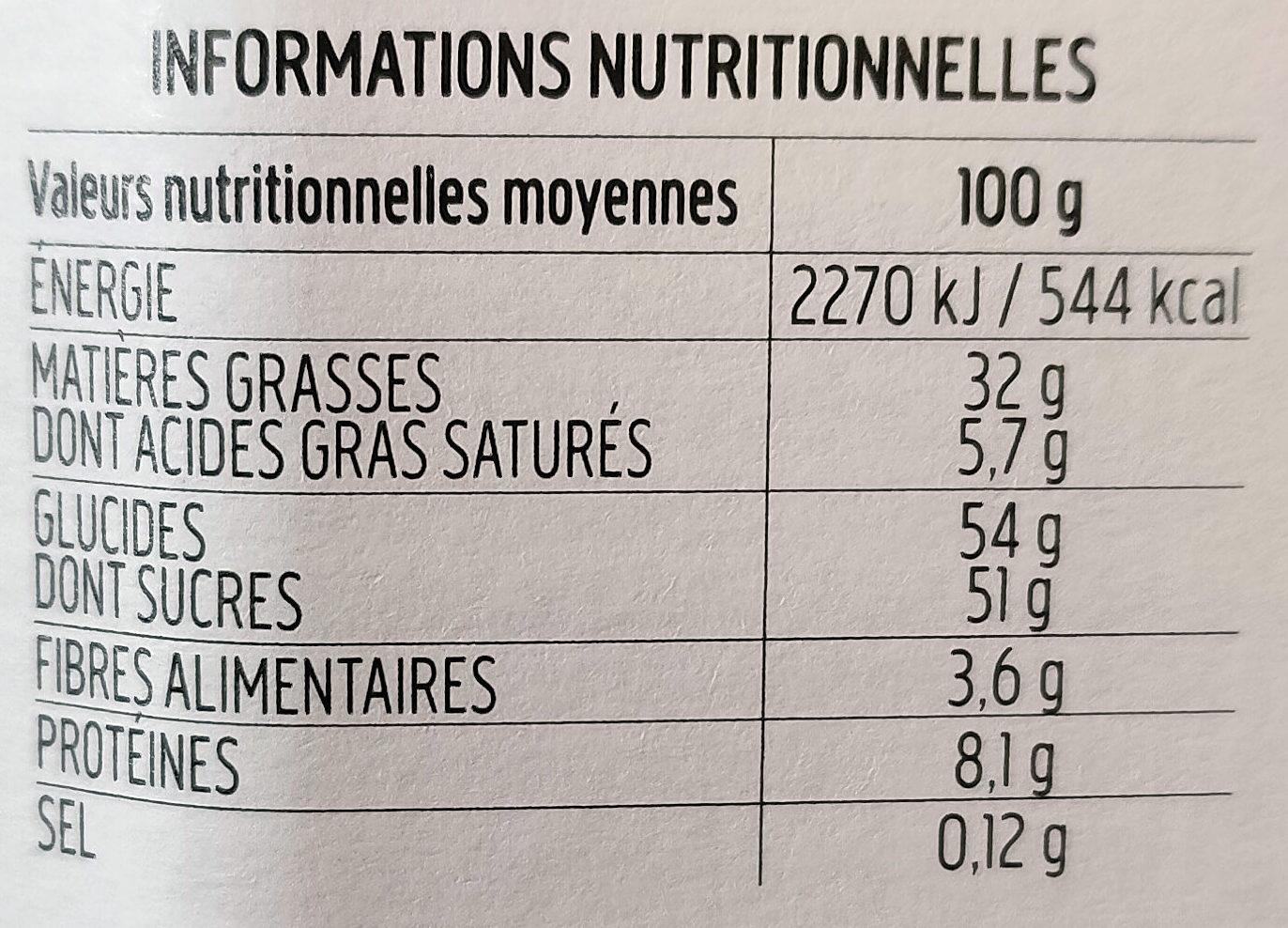 Nocciolata - Informations nutritionnelles - fr