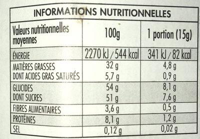 Nocciolata - Voedingswaarden - fr