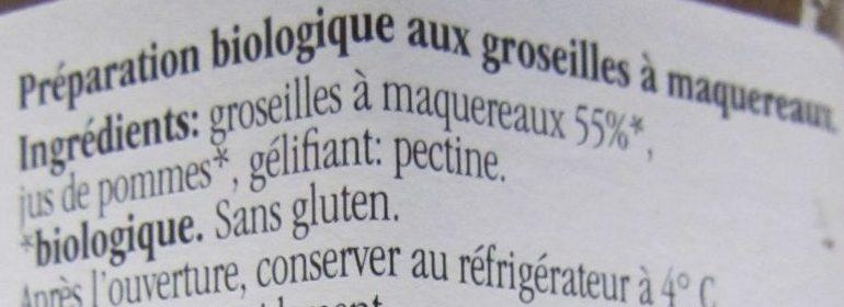Fior di Frutta Groseilles à Maquereaux - Ingrédients