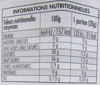 Fior di Frutta Groseilles à Maquereaux - Informations nutritionnelles