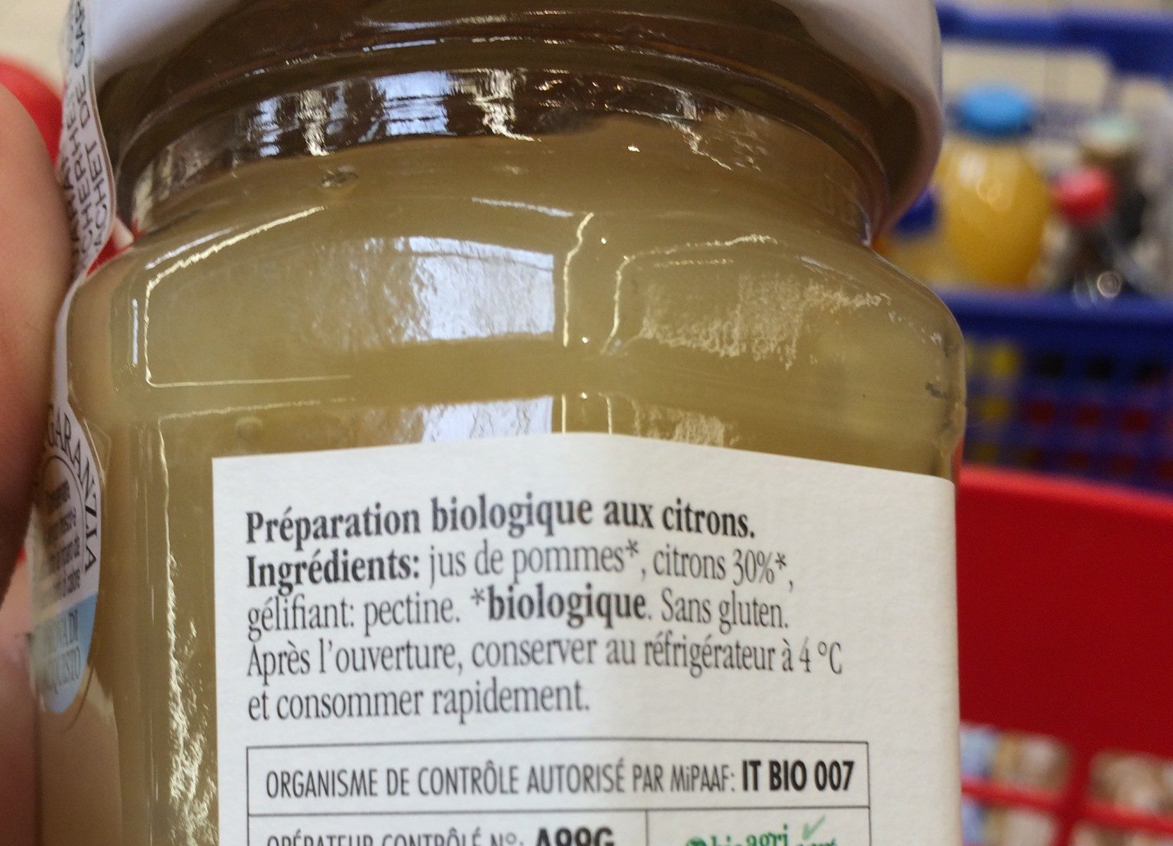 Fiordifrutta Citrons - Ingredients