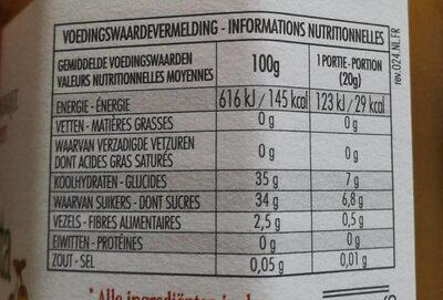 FiordiFrutta Poires - Nutrition facts