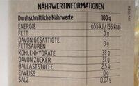 Fior di frutta - Nährwertangaben - fr
