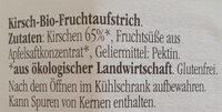 Fjordifrutta kirsche - Ingredients - de