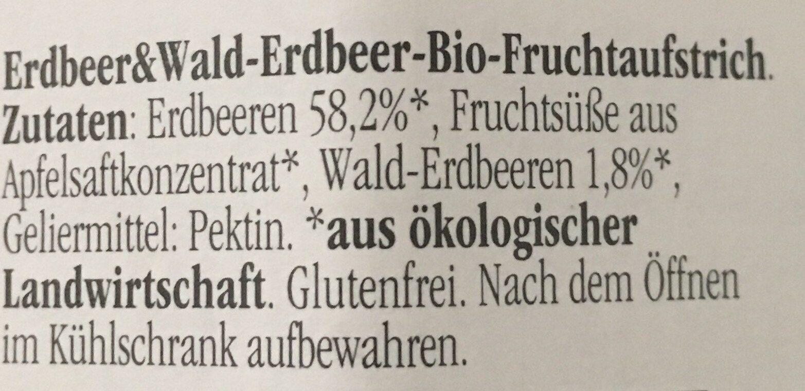 Marmelade Erdbeere & Wald-Erdbeere - Zutaten - de