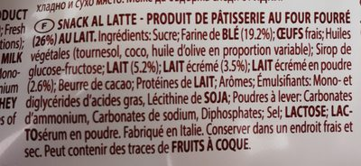 Mix Max Vanille Et Lait - Ingredients