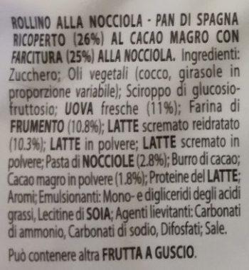 Rollino nocciola - Inhaltsstoffe - it