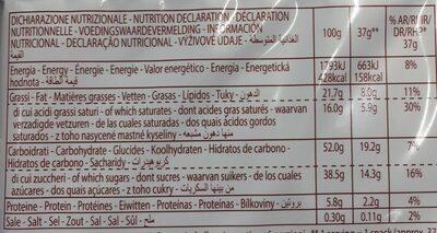 Rollino Latte - Informations nutritionnelles - fr