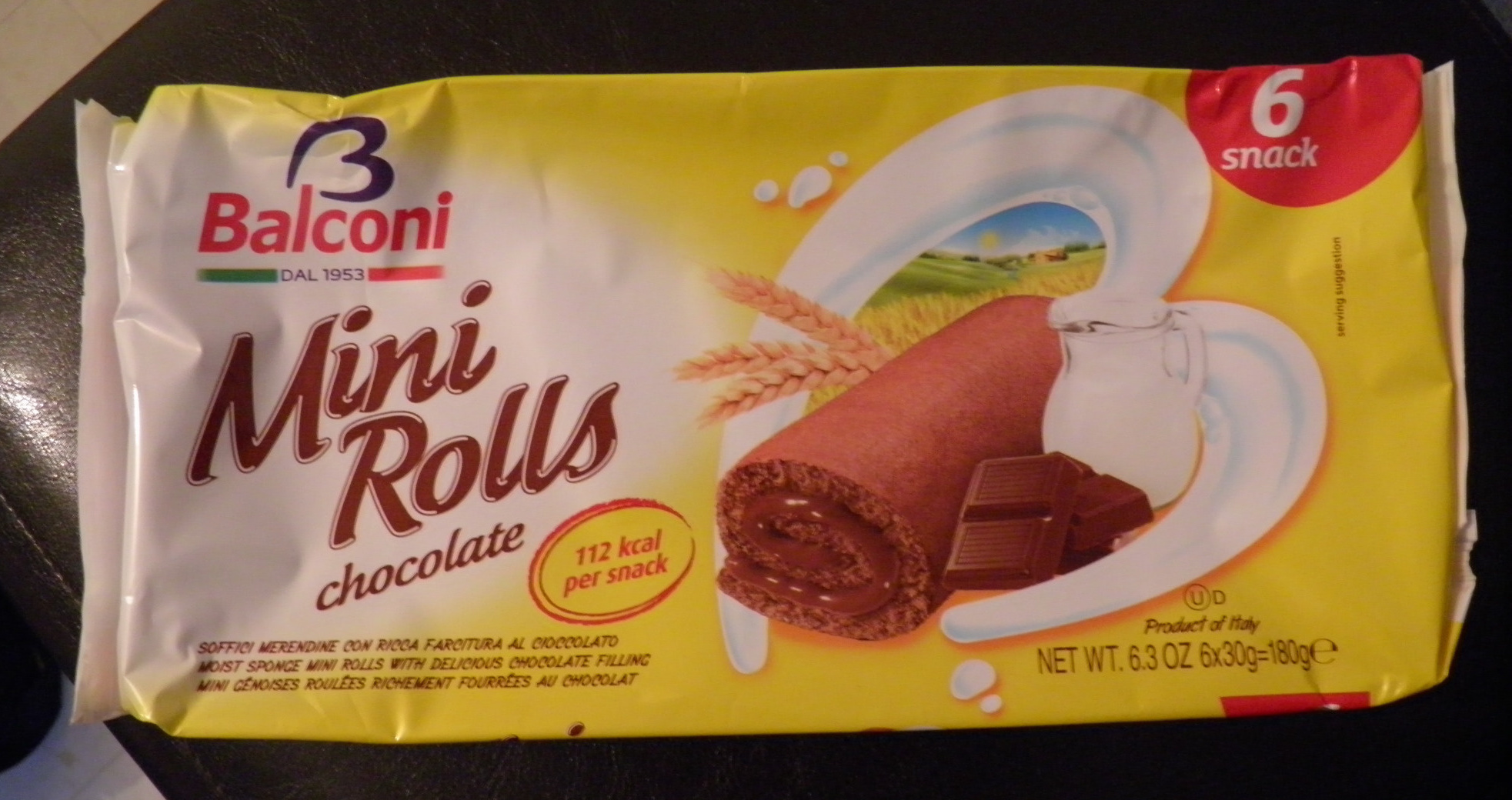 Mini Rolls Chocolate Balconi - Product