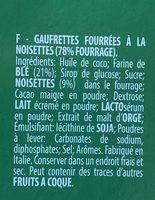Wafers Hazelnut 5 x (225g) - Ingredients - fr