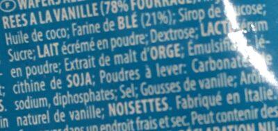 Wafers alla vaniglia - Ingrediënten - fr